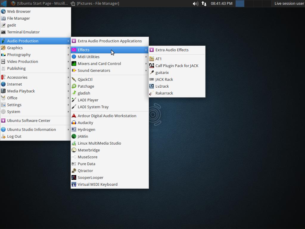 Tampilan Ubuntu Studio